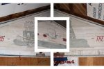 remembrance day - photo of one of the murals in the bunkhouse at survey camp